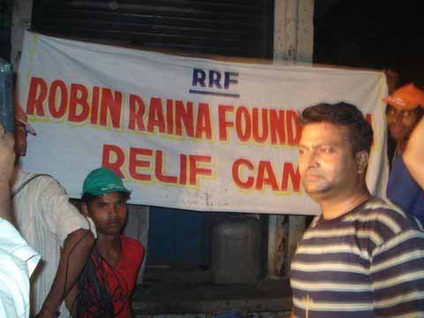 Fire relief efforts by Robin Raina Foundation